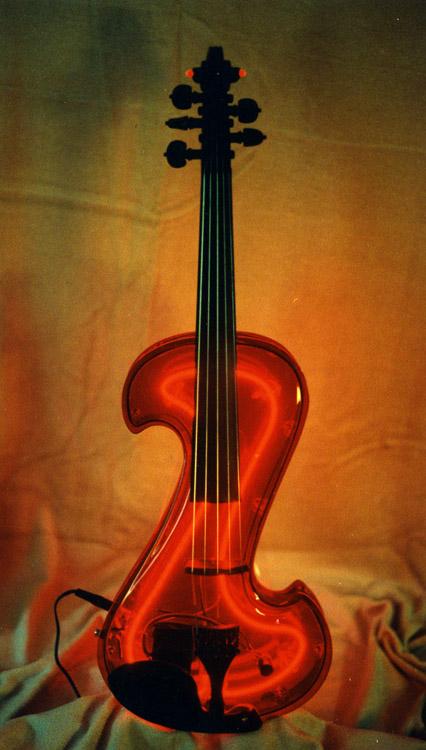 Электроскрипка с подсветкой, 5 струн